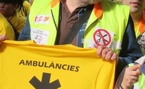 Protestes d'ambulancieros