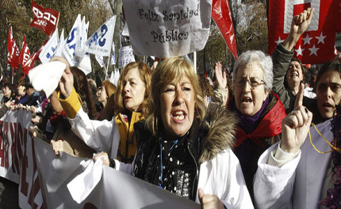 Manifestants a Madrid
