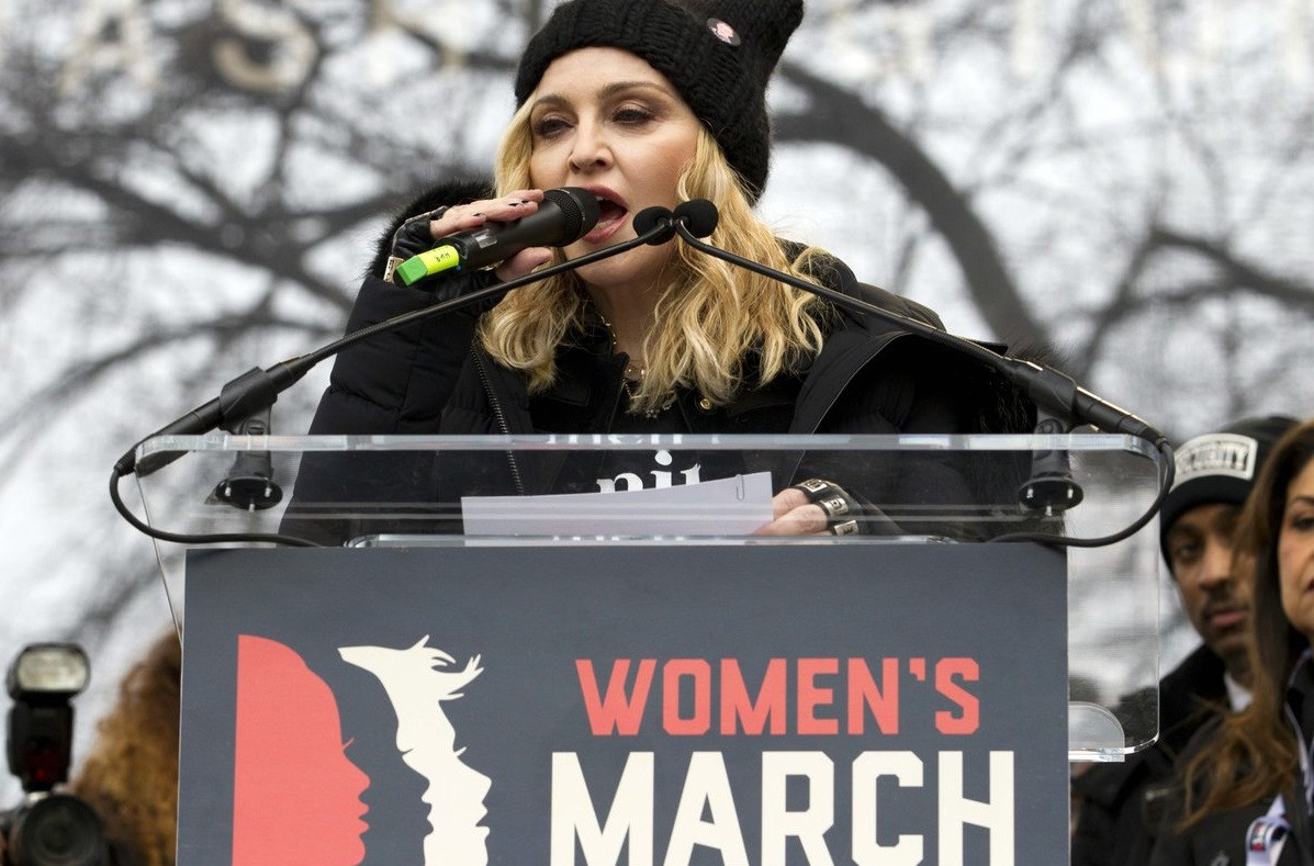Madonna marcha mujeres portada
