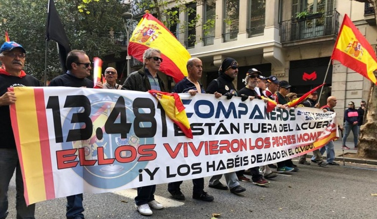 Manifestaciu00f3n de Jusapol en Barcelona 10 noviembre