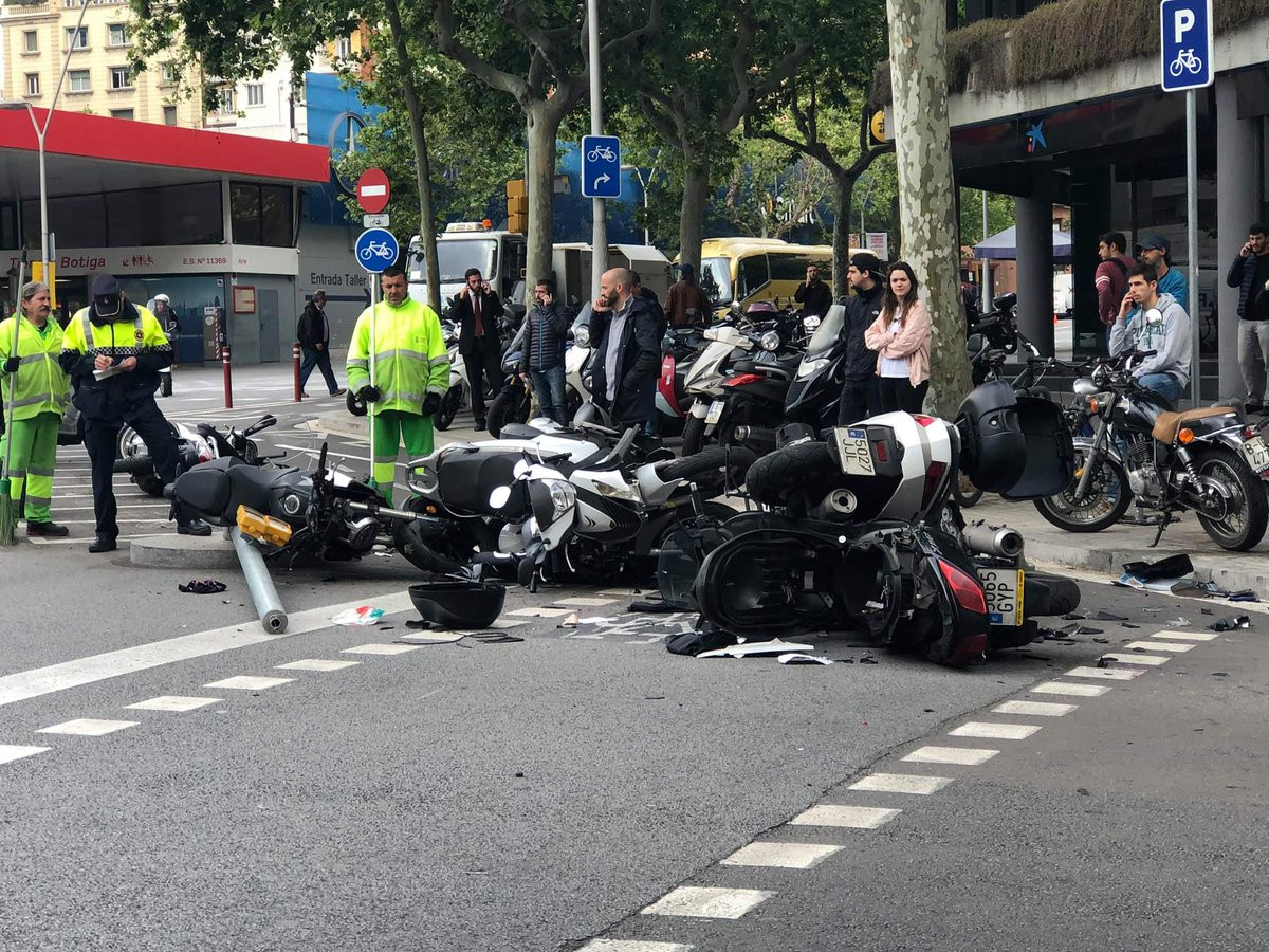 Accident Barcelona Furgoneta Motos