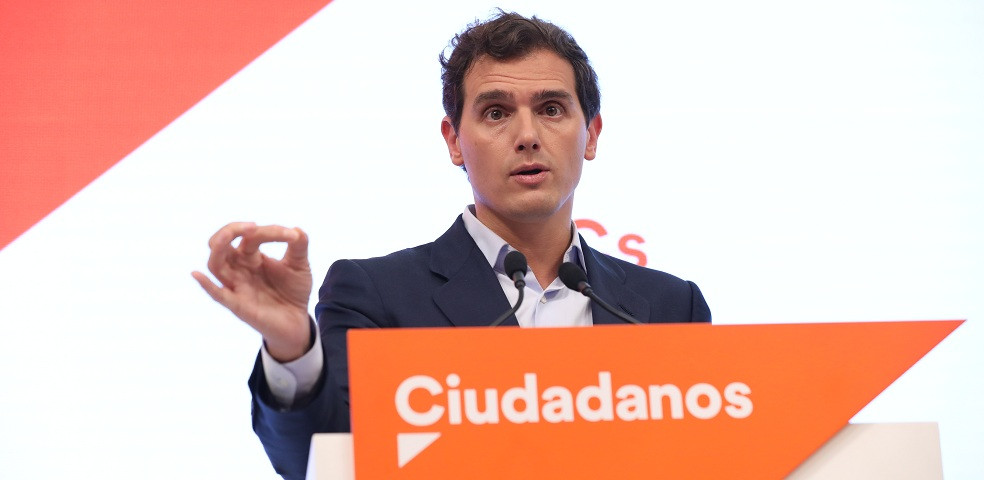 Albert Rivera a la seu de Cs